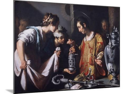 St. Lawrence Distributing the Riches of the Church, C.1625-Bernardo Strozzi-Mounted Giclee Print