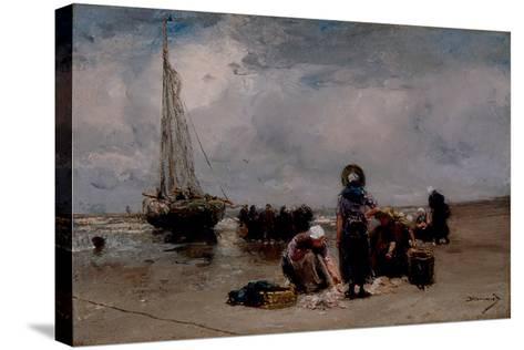 Seaside-Bernardus Johannes Blommers-Stretched Canvas Print