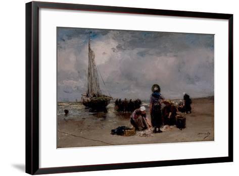 Seaside-Bernardus Johannes Blommers-Framed Art Print