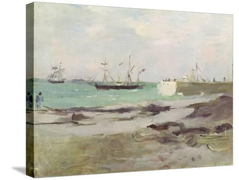 The Entrance to the Port of Boulogne, 1880-Berthe Morisot-Stretched Canvas Print