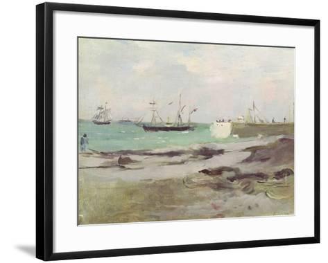 The Entrance to the Port of Boulogne, 1880-Berthe Morisot-Framed Art Print