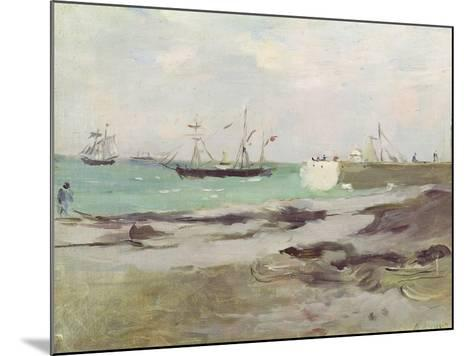 The Entrance to the Port of Boulogne, 1880-Berthe Morisot-Mounted Giclee Print