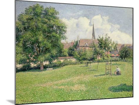 The House of the Deaf Woman and the Belfry at Eragny, 1886-Camille Pissarro-Mounted Giclee Print