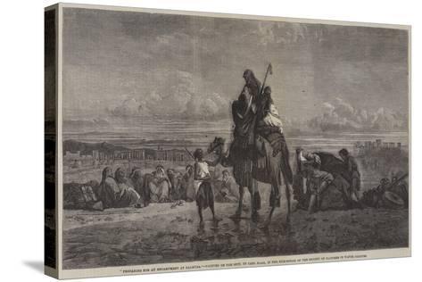Preparing for an Encampment at Palmyra-Carl Haag-Stretched Canvas Print