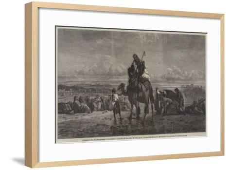 Preparing for an Encampment at Palmyra-Carl Haag-Framed Art Print