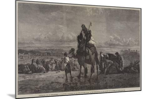 Preparing for an Encampment at Palmyra-Carl Haag-Mounted Giclee Print