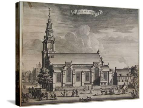 Zuyder Kerk, Amsterdam, from Beschryvinge Van Amsterdam, 1693-Casparus Commelin-Stretched Canvas Print