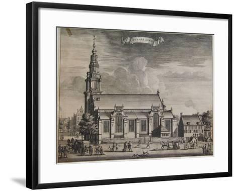 Zuyder Kerk, Amsterdam, from Beschryvinge Van Amsterdam, 1693-Casparus Commelin-Framed Art Print