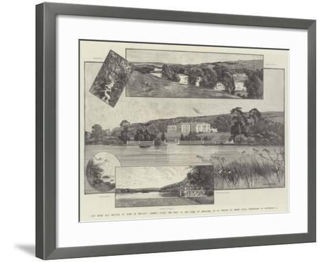 The Duke and Duchess of York in Ireland-Charles Auguste Loye-Framed Art Print