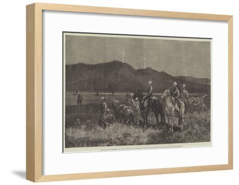 The French Expedition to Tunis-Charles Auguste Loye-Framed Art Print
