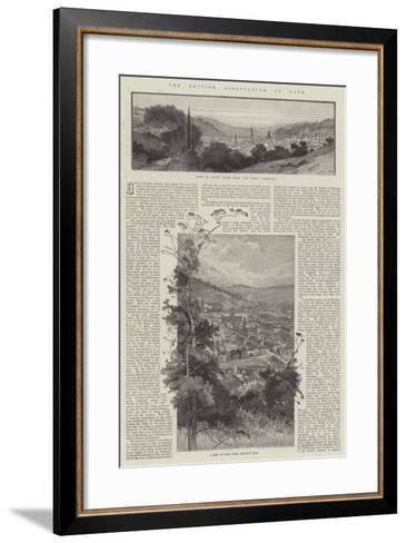The British Association at Bath-Charles Auguste Loye-Framed Art Print