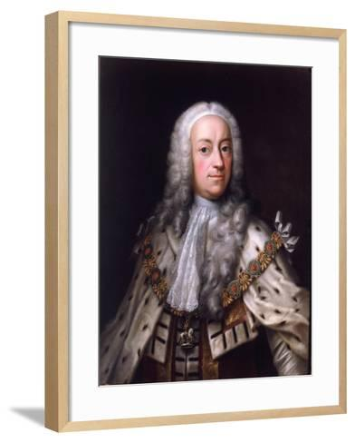 Portrait of King George-Barthelemy du Pan-Framed Art Print