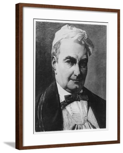 Portrait of Charles Augustin Sainte-Beuve-Barthelemy Eugene Demarquay-Framed Art Print