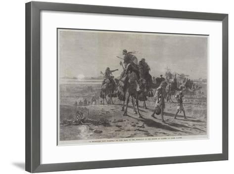 A Departure from Palmyra-Carl Haag-Framed Art Print
