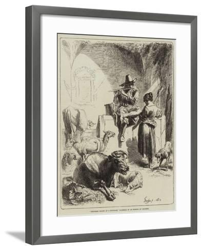 Shepherd Seated at a Fountain-Benjamin Herring-Framed Art Print