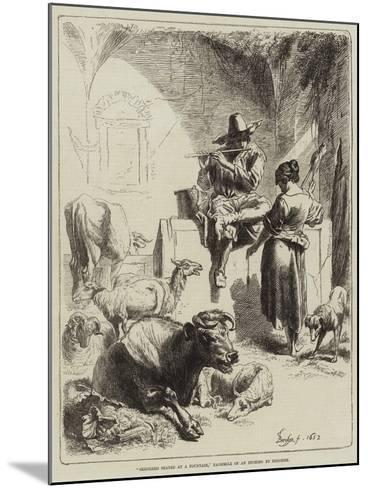 Shepherd Seated at a Fountain-Benjamin Herring-Mounted Giclee Print