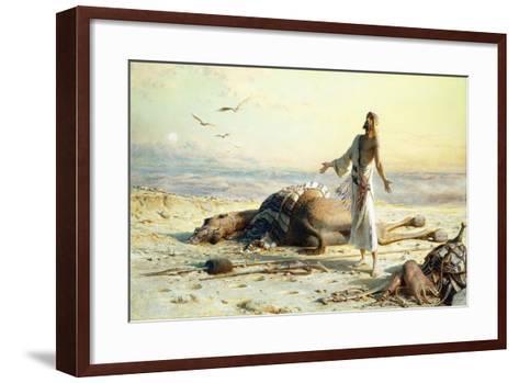 Shipwreck in the Desert, 1886-Carl Haag-Framed Art Print