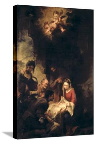 Adoration of the Shepherds-Bartolome Esteban Murillo-Stretched Canvas Print