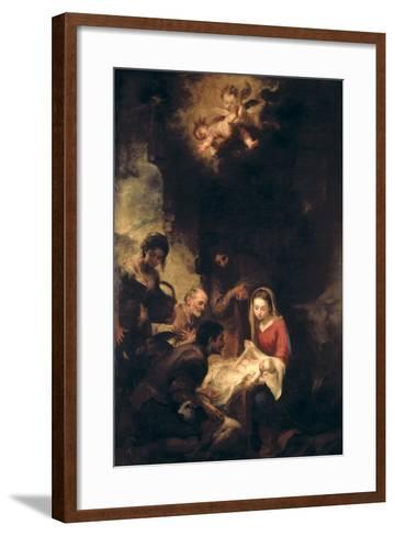 Adoration of the Shepherds-Bartolome Esteban Murillo-Framed Art Print