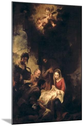 Adoration of the Shepherds-Bartolome Esteban Murillo-Mounted Giclee Print