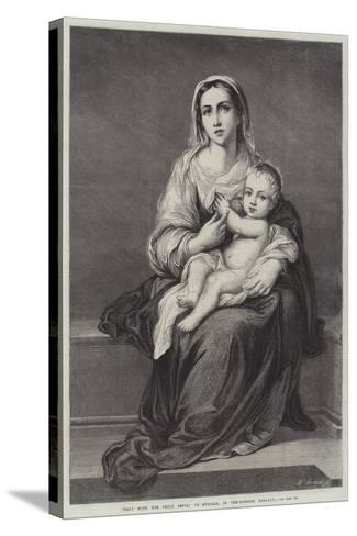 Mary with the Child Jesus-Bartolome Esteban Murillo-Stretched Canvas Print