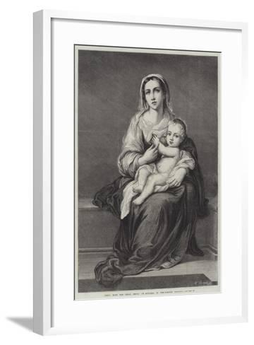 Mary with the Child Jesus-Bartolome Esteban Murillo-Framed Art Print