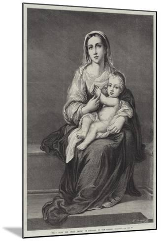 Mary with the Child Jesus-Bartolome Esteban Murillo-Mounted Giclee Print