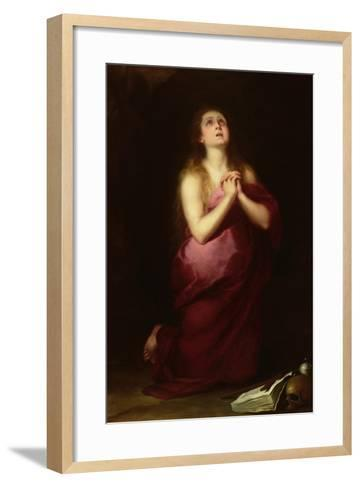 Mary Magdalene, 1650-55-Bartolome Esteban Murillo-Framed Art Print