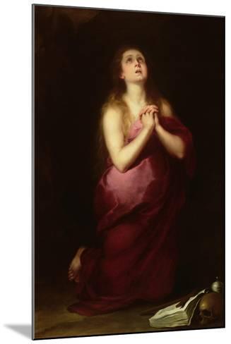 Mary Magdalene, 1650-55-Bartolome Esteban Murillo-Mounted Giclee Print