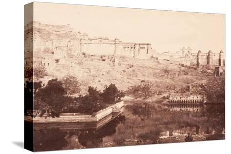 View of Amber Fort, 1871- Bourne & Shepherd-Stretched Canvas Print