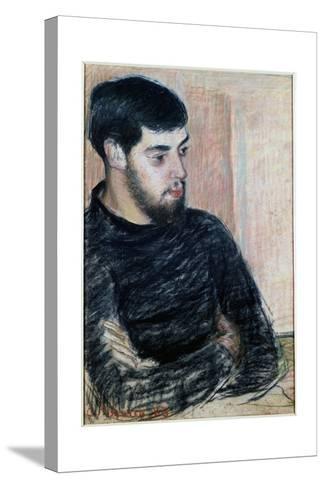 Portrait of Lucien Pissarro (1863-1944), 1883 (Pastel)-Camille Pissarro-Stretched Canvas Print
