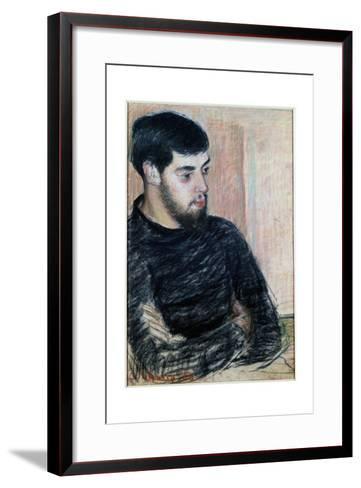 Portrait of Lucien Pissarro (1863-1944), 1883 (Pastel)-Camille Pissarro-Framed Art Print