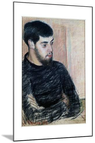 Portrait of Lucien Pissarro (1863-1944), 1883 (Pastel)-Camille Pissarro-Mounted Giclee Print