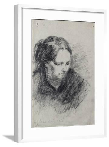 Portrait of Madame Pissarro, 1882-Camille Pissarro-Framed Art Print