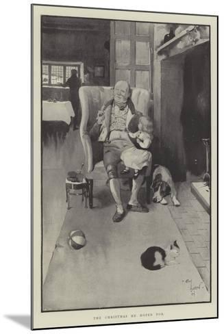 The Christmas He Hoped For-Cecil Aldin-Mounted Giclee Print