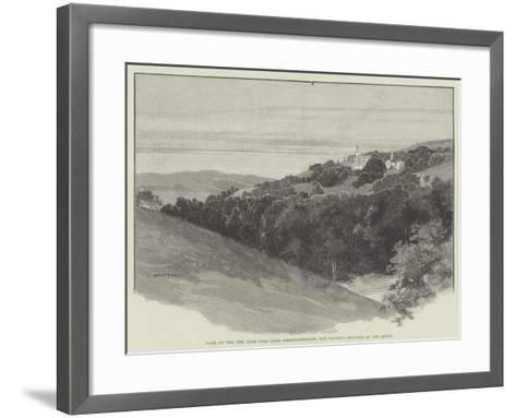 Pale, on the Dee, Near Bala Lake, Merionethshire, the Mansion Occupied by the Queen-Charles Auguste Loye-Framed Art Print