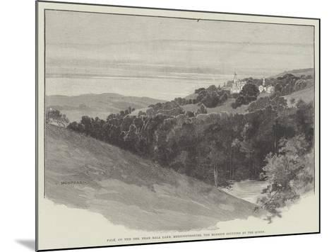 Pale, on the Dee, Near Bala Lake, Merionethshire, the Mansion Occupied by the Queen-Charles Auguste Loye-Mounted Giclee Print