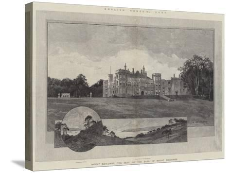 English Homes, Mount Edgcumbe, the Seat of the Earl of Mount Edgcumbe-Charles Auguste Loye-Stretched Canvas Print
