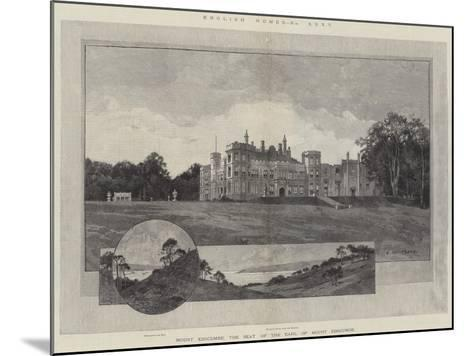 English Homes, Mount Edgcumbe, the Seat of the Earl of Mount Edgcumbe-Charles Auguste Loye-Mounted Giclee Print