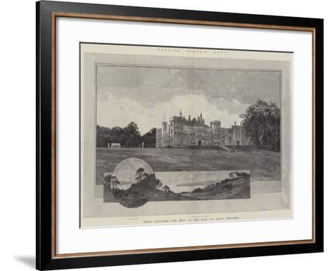 English Homes, Mount Edgcumbe, the Seat of the Earl of Mount Edgcumbe-Charles Auguste Loye-Framed Art Print