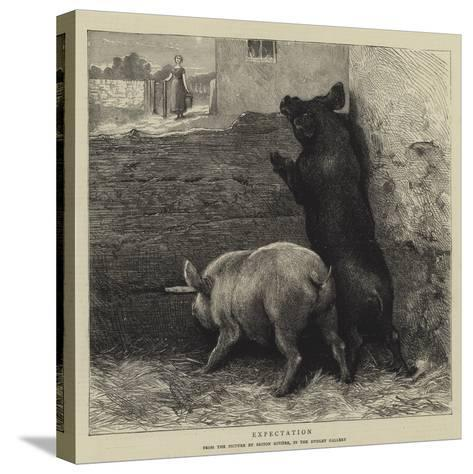 Expectation-Briton Riviere-Stretched Canvas Print