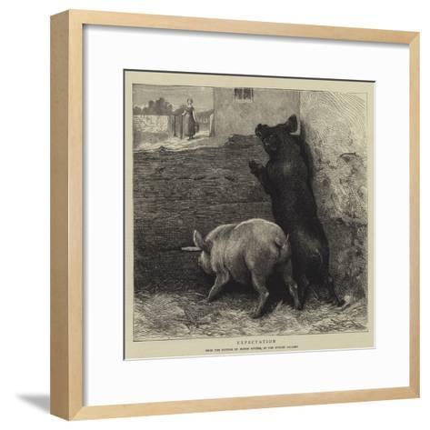 Expectation-Briton Riviere-Framed Art Print