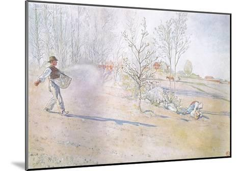 Johan Carried the Oats in a Big Open Bag Fastened by Straps-Carl Larsson-Mounted Giclee Print