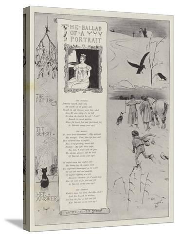 The Ballad of a Portrait-Cecil Aldin-Stretched Canvas Print