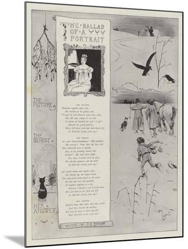 The Ballad of a Portrait-Cecil Aldin-Mounted Giclee Print