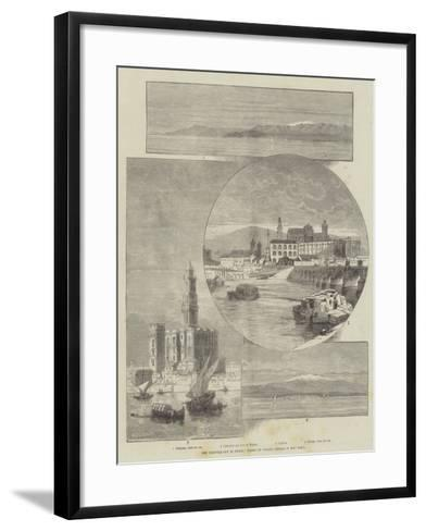 The Earthquake in Spain, Views of Places Where it Was Felt-Charles Auguste Loye-Framed Art Print