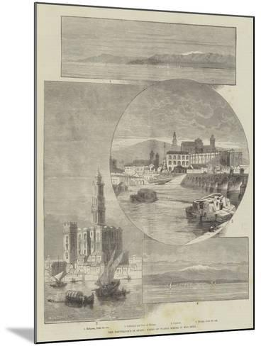 The Earthquake in Spain, Views of Places Where it Was Felt-Charles Auguste Loye-Mounted Giclee Print