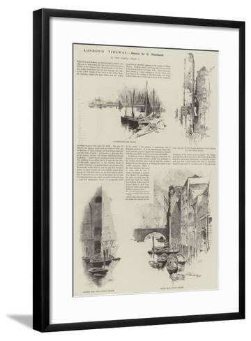 London's Tideway-Charles Auguste Loye-Framed Art Print