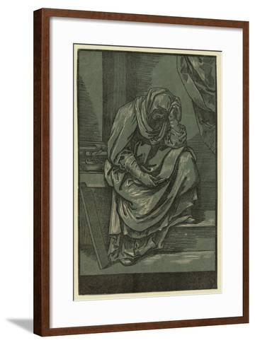 Sibyll, Between 1630 and 1655-Bartolomeo Coriolano-Framed Art Print