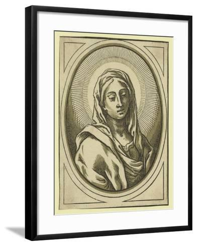 Head of the Virgin, Between 1630 and 1655-Bartolomeo Coriolano-Framed Art Print